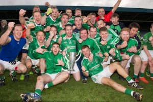 Stradbally celebrate capturing their first senior football title in 11 years with the defeat of Portlaoise in O'Moore Park on Sunday Photo: Denis Byrne