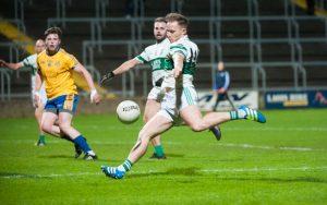 Portlaoise's Paul Cahillane unleashes a shot at goal in the SFC quarter-final replay against St Joseph's                  Photo: Denis Byrne