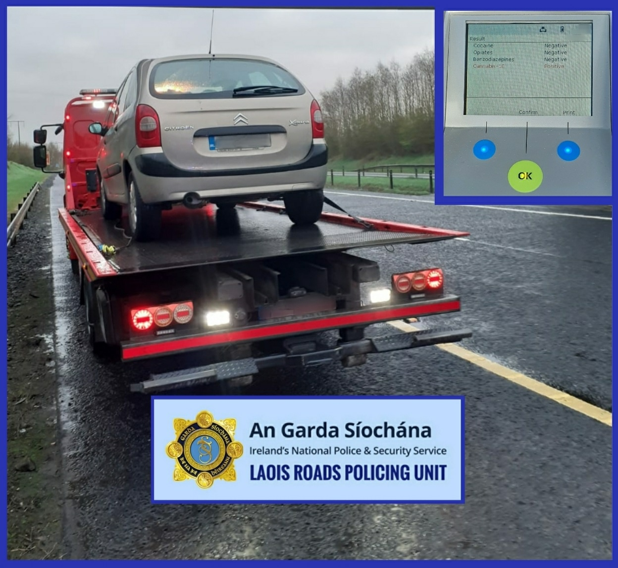 Laois Nationalist — Cannabis driver caught 130kms from ...